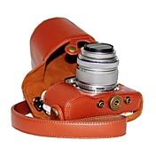 caja de la cámara patrón de litchi dengpin® pu cuero de la pluma Olympus E-PL7 con 17 mm / 14-42mm lente