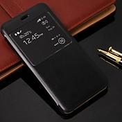 Para Funda iPhone 6 / Funda iPhone 6 Plus con Soporte / con Ventana / Flip Funda Cuerpo Entero Funda Un Color Dura Cuero SintéticoiPhone
