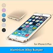 caso de parachoques del marco de protección metálica de aleación de aluminio para el iphone 6 (colores surtidos)