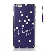 """""""Ser feliz"""" palabras con patrón margaritas pc caso duro para el iphone 6"""