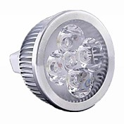 5W GU5.3(MR16) Focos LED MR16 4 leds LED de Alta Potencia 500lm Blanco Cálido Blanco Fresco Warm: 2800-3200K ; Cool: 6000-6500KK Regulable
