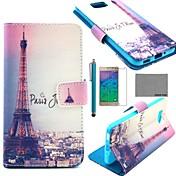 Para Soporte de Coche / Cartera / con Soporte / Flip / Diseños Funda Cuerpo Entero Funda Torre Eiffel Dura Cuero Sintético Samsung Alpha
