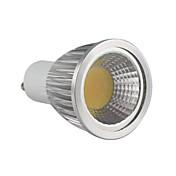 5.5W 500-550 lm GU10 LED 스팟 조명 MR16 1 LED가 COB 밝기조절가능 따뜻한 화이트 AC 220-240V