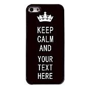 estuche negro personalizado a mantener el caso del diseño metal tranquilo para el iphone 5 / 5s