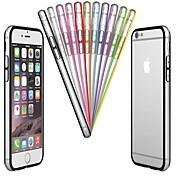 Para Funda iPhone 6 / Funda iPhone 6 Plus Transparente Funda Acolchada Funda Un Color Dura PolicarbonatoiPhone 6s Plus/6 Plus / iPhone