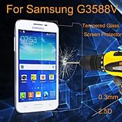 Protector de pantalla - Cristal Templado Anti Explosión/A Prueba de Polvo/Impermeable - para Samsung Galaxy Core 2 G3558 / G3559