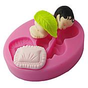 Four-C silikon mold sovende baby kake dekorert med muggsopp, fondant dekorere verktøy leverer fargen rosa