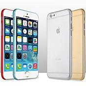 Funda Para Apple iPhone 6 iPhone 6 Plus Ultrafina Funda Trasera Color sólido Dura ordenador personal para iPhone 6s Plus iPhone 6s iPhone