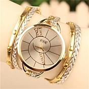 Mujer Reloj Pulsera Gran venta Piel Banda Bohemio / Moda / Reloj de Vestir Blanco / Azul / Marrón / Un año / SODA AG4