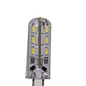 SENCART 180-220 lm G4 LED-kornpærer T 24 leds SMD 3014 Dekorativ Varm hvit Kjølig hvit AC 12V DC 12 V AC 220-240V