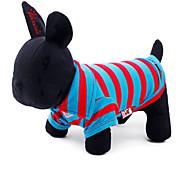Kat Hund Trøye/T-skjorte Hundeklær Stribe Bomull Kostume For kjæledyr