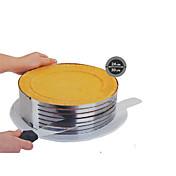 패션 금속 원형 조절 스테인레스 스틸 쉬폰 무스 케이크 층 잘라 슬라이서 목록 bakeware 요리 케이크 SS-43