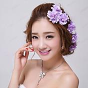 horquillas nupciales florales púrpuras de la boda / del partido (3 pedazos / sistema) estilo elegante