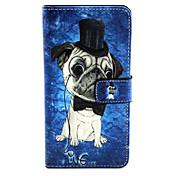 Para Funda Samsung Galaxy Carcasa Funda Soporte de Coche con Soporte Flip Diseños Magnética Cuerpo Entero Funda Perro Cuero Sintético para