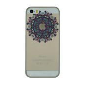 Funda Para iPhone 5 Apple Ultrafina Transparente Diseños Funda Trasera Flor Dura ordenador personal para iPhone SE/5s