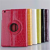 Funda Para Mini iPad 3/2/1 con Soporte Activado / Apagado Automático Origami Rotación 360º Funda de Cuerpo Entero Color sólido Cuero de PU