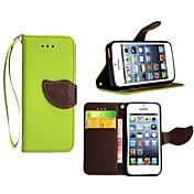 Etui Til Apple iPhone X iPhone 8 Plus Etui iPhone 5 Kortholder Lommebok med stativ Flipp Heldekkende etui Helfarge Hard PU Leather til