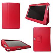 용 삼성 갤럭시 케이스 스탠드 / 플립 케이스 풀 바디 케이스 단색 인조 가죽 SamsungTab 4 10.1 / Tab 4 8.0 / Tab 4 7.0 / Tab 3 7.0 / Tab 3 8.0 / Tab 3 Lite / Tab 2 10.1 /