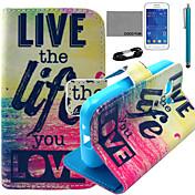 용 카드 홀더 / 지갑 / 스탠드 / 플립 / 패턴 케이스 풀 바디 케이스 단어 / 문구 하드 인조 가죽 Samsung Young 2