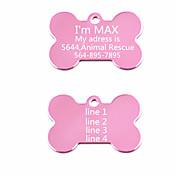 personalizado anodizado etiqueta de la identificación del perro de aluminio para mascotas (colores surtidos)
