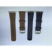 Banda de reloj para la venda de reloj iWatch manzana con conector para iwatchgenuine manzana correa de piel de 42mm iWatch