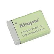 kingma nb-13l reemplazo 1250mAh 3.6v batería li-ion para Canon PowerShot G7 x - gris + verde