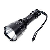 Linternas LED Linternas de Mano LED 1000 Lumens 5 Modo Cree XP-E R2 para Camping/Senderismo/Cuevas Negro