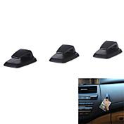3pcs conveniente Mini autoadhesiva gancho coche abs percha