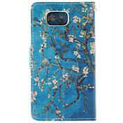 용 삼성 갤럭시 케이스 카드 홀더 / 스탠드 / 플립 / 패턴 케이스 풀 바디 케이스 나무 인조 가죽 Samsung Alpha