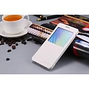 Para Funda Samsung Galaxy con Ventana / Flip Funda Cuerpo Entero Funda Un Color Cuero Sintético Samsung A7 / Grand