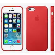 제품 iPhone 8 iPhone 8 Plus 아이폰5케이스 케이스 커버 Other 뒷면 커버 케이스 한 색상 하드 천연 가죽 용 iPhone 8  Plus iPhone 8 iPhone SE/5s iPhone 5