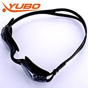 Yobo natación gafas unisex luz gris antivaho / tamaño ajustable / anti-ultravioleta / antideslizante pc correa de gel de sílice /
