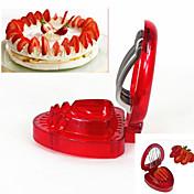 1 stk Jordbær Utskjærer For for Frukt Rustfritt stål Plast Kreativ Kjøkken Gadget