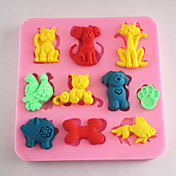 animales hornear fondant molde decoración de la torta del molde