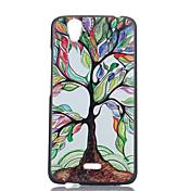 caso pintado teléfono pc patrón de árbol para birdy wiko
