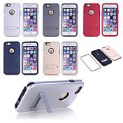 god kvalitet spesielle design pc silikon knuse-resistente saken tilbake dekke for iPhone 6 (flere farger)