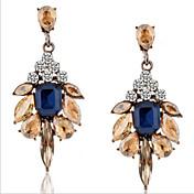Mujer Pendientes colgantes Cristal Moda Joyería de Lujo Europeo Piedras preciosas sintéticas Diamante Sintético Legierung Gota Joyas Para