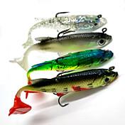 4pcs stk Myk Agn Sluk myke jerkbaits Shad Myk Lokkemat Myk Plastikk Søfisking Spinne Ferskvannsfiskere Bass Fiske