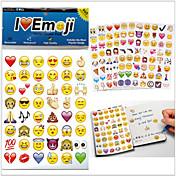 960pcs 2015new / pack pegatinas emoji emoji pegatinas populares para el teléfono móvil decoración habitaciones de los niños en casa