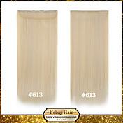 høy temperatur motstand 24 tommers bleike blonde (# 613) lang rett 5 klipp parykk forlengelse 16 farger tilgjengelig