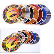 5 colores 4m / lot (volumen) de salida del coche de bricolaje interior de aire acondicionado ventilación tira de la decoración cromada