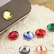etiqueta engomada casera del botón de la resina para la galaxia s8 s7 samsung del iphone 8 7 (color al azar)