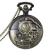 Hombre Cuarzo Reloj de Bolsillo Reloj Casual Aleación Banda Encanto Bronce