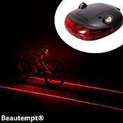 Luces para bicicleta Luz Trasera para Bicicleta Láser LED Ciclismo Resistente a Golpes Impermeable Láser Batería de litio Lumens Batería