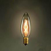 c35 quemar burbuja punta pequeña bombilla amarilla e14 220 v edison tornillo fuente retro luz