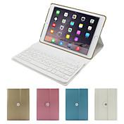 제품 케이스 커버 스탠드 키보드 플립 360°회전 풀 바디 케이스 한 색상 하드 인조 가죽 용 iPad Air