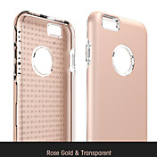 Funda Para Apple iPhone 6s Carcasas de Cuerpo Completo Un Color Dura Cuero de PU para Apple