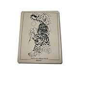 basekey 10 piezas logotipo del tigre del tatuaje de la piel falsa para la práctica del tatuaje de 15 x 20 cm