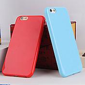 casos suaves del color TPU del color del caramelo sólidas para 5c iphone
