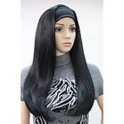Syntetiske parykker Rett tetthet Lokkløs Dame Karneval Parykk Halloween parykk Syntetisk hår